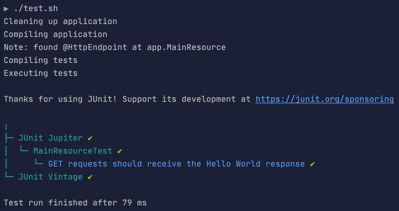 JUnit CLI output